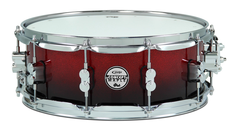 DW Drums PDP Concept Maple Red Black Sparkle Fade 6 pezzi