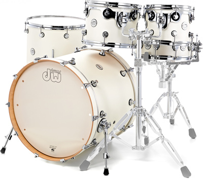 DW Drums DESIGN WHITE SATIN Shell Pack kit