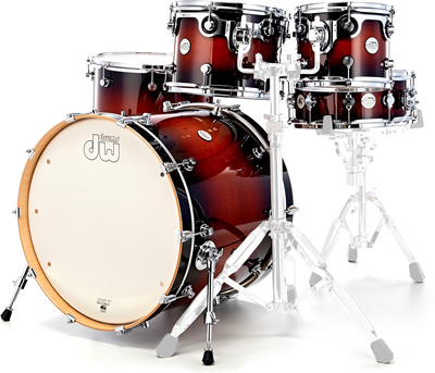 DW Drums DESIGN Tobacco Burst Shell Pack kit