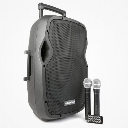 VONYX Vonyx AP1500PA Sound Portable Battery Powered Bluetooth PA Speaker System 800...
