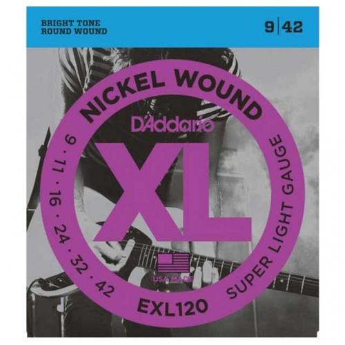 DADDARIO EXL120 Nickel Wound – Super Light (09-42)