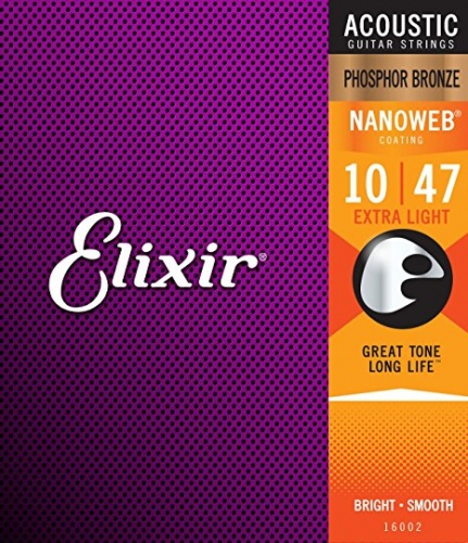ELIXIR 16002 Nanoweb Extra Light Acoustic Phosphor Bronze