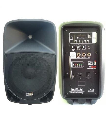 ITALIAN STAGE FR08AW CASSA MP3/USB CON RADIOMICROFONO