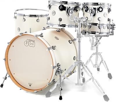DW Drums DESIGN WHITE SATIN Shell Pack kit